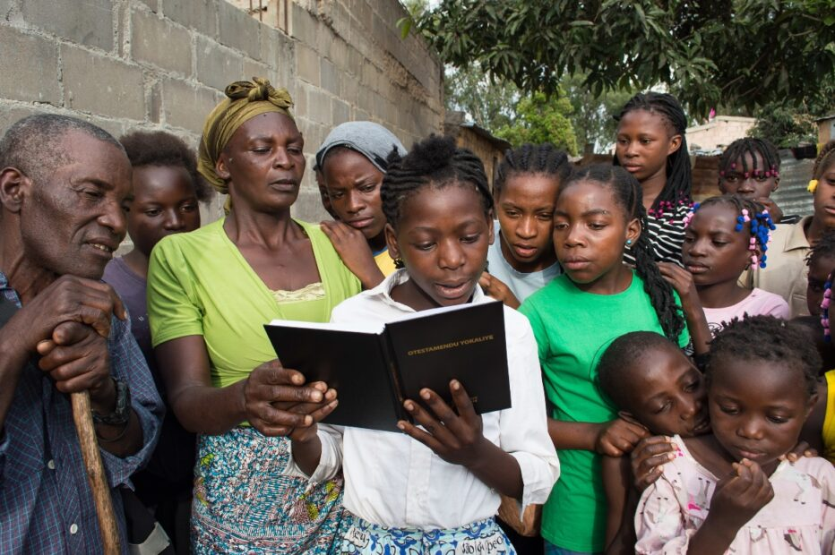 Reading the Bible in Namibia